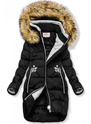 Winter Jacke mit Kapuze schwarz