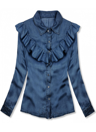 Weiches Hemd aus Lyocell dunkelblau