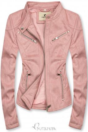 Wildlederjacke rosa