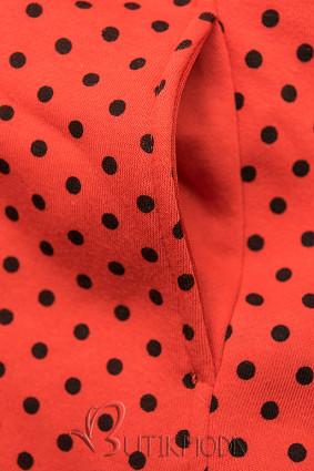 VerlängerteSweatjacke mit Kapuze orange