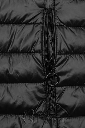 Wendejacke mit Kapuze schwarz