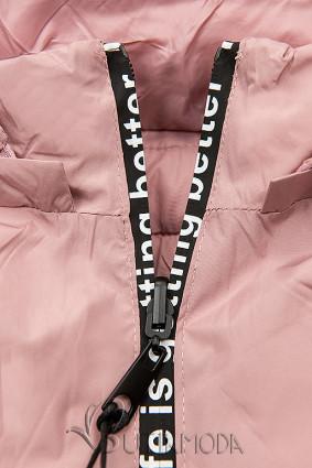 Sportliche Wendejacke rosa