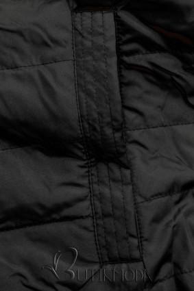 Wende-Parka mit Kapuze khaki-schwarz